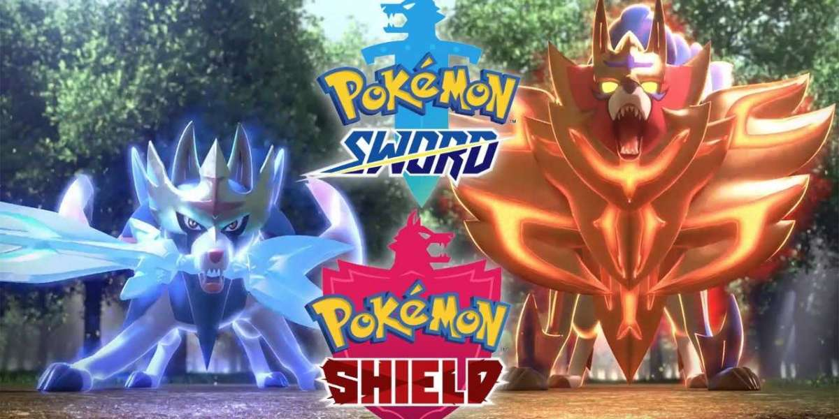 Shiny Solrock and Lunatone appear in the New Wild Area Event of Pokemon Sword and Shield